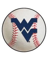 West Virginia Baseball Mat 26 diameter  by