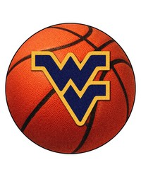 West Virginia Mountaineers Basketball Rug by