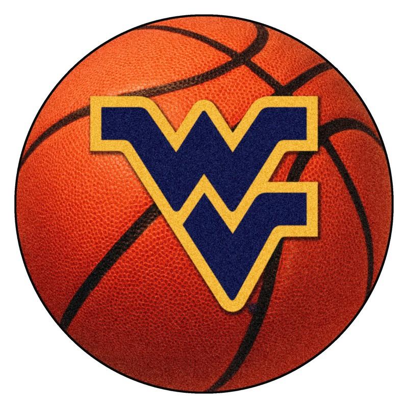 Large Basketball Area Rug: West Virginia Mountaineers Basketball Rug
