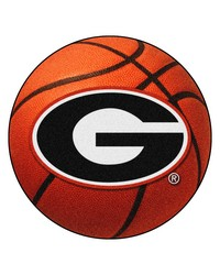 Georgia Basketball Mat 26 diameter  by