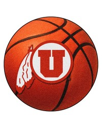 Utah Basketball Mat 26 diameter  by