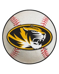 Missouri Tigers Baseball Rug by