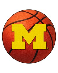 Michigan Wolverines Basketball Rug by