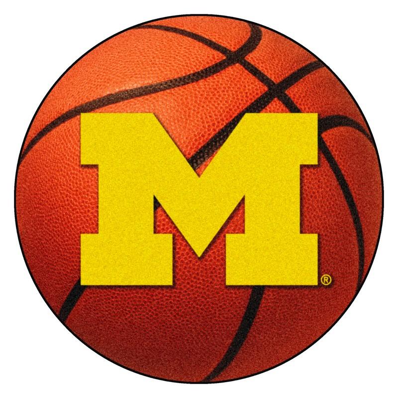 Large Basketball Area Rug: Michigan Wolverines Basketball Rug