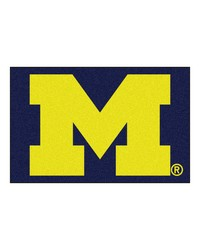 Michigan Wolverines Starter Rug by