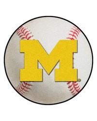 Michigan Baseball Mat 26 diameter  by