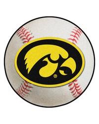 Iowa Hawkeyes Baseball Rug by