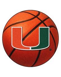 Miami Hurricanes Basketball Rug by