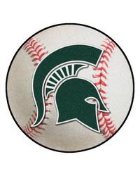 Michigan State Baseball Mat 26 diameter  by