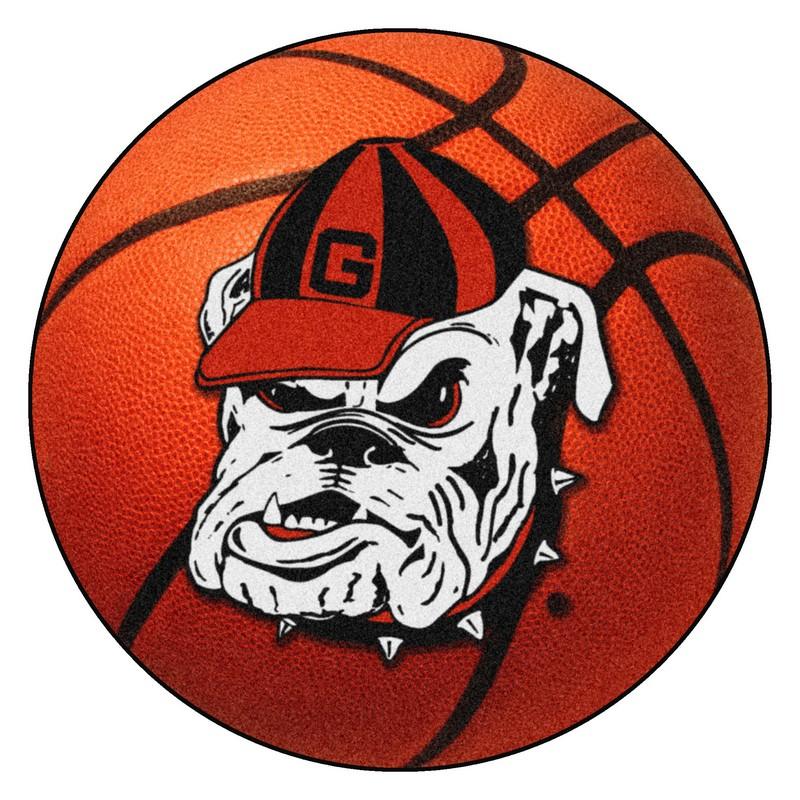 Large Basketball Area Rug: Georgia Bulldogs Uga Basketball Rug