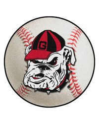 Georgia Bulldogs Uga Baseball Rug by