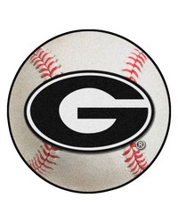 Georgia Bulldogs Baseball Rug by