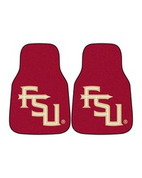 Florida State 2piece Carpeted Car Mats 18x27 by