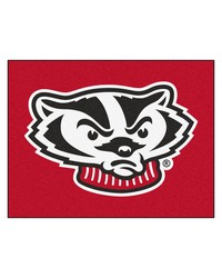 Wisconsin Badgers All Star Rug by