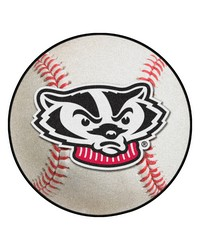 Wisconsin Badgers Baseball Rug by
