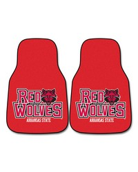 Arkansas State 2piece Carpeted Car Mats 18x27 by