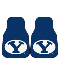 BYU 2piece Carpeted Car Mats 18x27 by