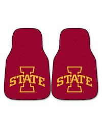 Iowa State 2piece Carpeted Car Mats 18x27 by