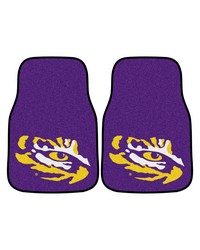 Louisiana State 2piece Carpeted Car Mats 18x27 by
