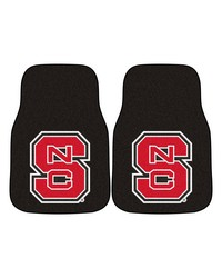 NC State 2piece Carpeted Car Mats 18x27 by