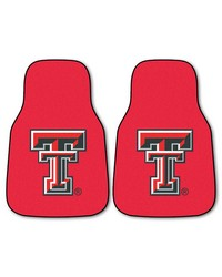 Texas Tech 2piece Carpeted Car Mats 18x27 by
