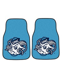 UNC Chapel Hill 2piece Carpeted car Mats 18x27 by