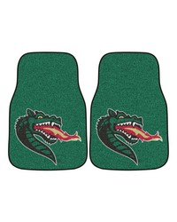 UAB 2piece Carpeted Car Mats 18x27 by