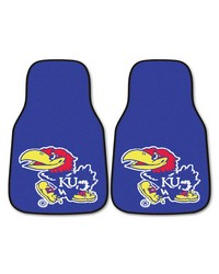 Kansas 2-piece Carpeted Car Mats 18x27 by