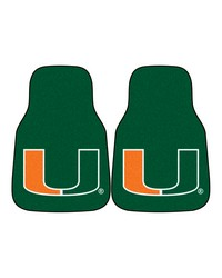 Miami 2piece Carpeted Car Mats 18x27 by