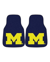 Michigan 2piece Carpeted Car Mats 18x27 by