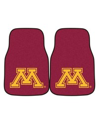 Minnesota 2piece Carpeted Car Mats 18x27 by