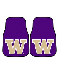 Washington 2piece Carpeted Car Mats 18x27 by