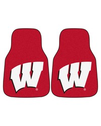 Wisconsin 2piece Carpeted Car Mats 18x27 by