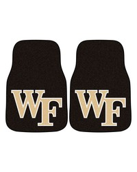 Wake Forest 2piece Carpeted Car Mats 18x27 by