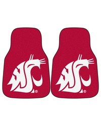 Washington State 2piece Carpeted Car Mats 18x27 by