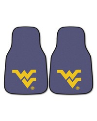 West Virginia 2piece Carpeted Car Mats 18x27 by