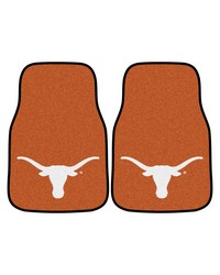 Texas 2piece Carpeted Car Mats 18x27 by