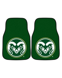 Colorado State 2piece Carpeted Car Mats 18x27 by
