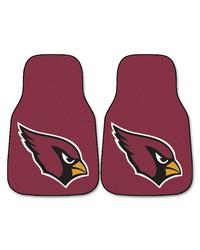 NFL Arizona Cardinals 2piece Carpeted Car Mats 18x27 by