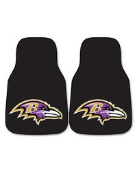 NFL Baltimore Ravens 2piece Carpeted Car Mats 18x27 by