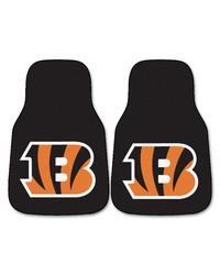 NFL Cincinnati Bengals 2piece Carpeted Car Mats 18x27 by