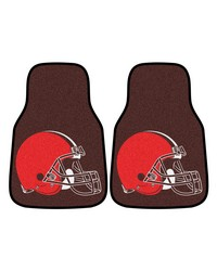 NFL Cleveland Browns 2piece Carpeted Car Mats 18x27 by