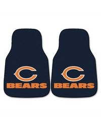 NFL Chicago Bears 2piece Carpeted Car Mats 18x27 by