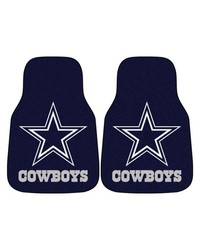 NFL Dallas Cowboys 2piece Carpeted Car Mats 18x27 by