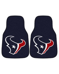 NFL Houston Texans 2piece Carpeted Car Mats 18x27 by