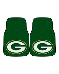 NFL Green Bay Packers 2piece Carpeted Car Mats 18x27 by