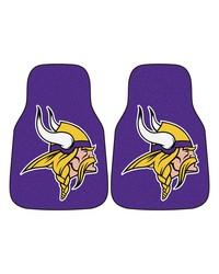 NFL Minnesota Vikings 2piece Carpeted Car Mats 18x27 by