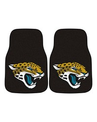 NFL Jacksonville Jaguars 2piece Carpeted Car Mats 18x27 by