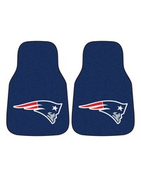 NFL New England Patriots 2piece Carpeted Car Mats 18x27 by
