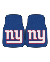 NFL New York Giants 2piece Carpeted Car Mats 18x27 by
